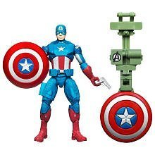 Marvel Avengers Movie 4 Inch Action Figure Shield Launcher Captain America