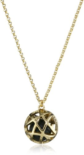 Low Luv by Erin Wasson Cage Sphere and Lava Ball Pendant Necklace