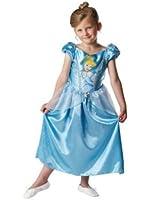 Disney - I-881849 - Déguisement - Costume Classique Cendrillon - Robe en Satin Bleu et Tour de Cou