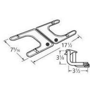 Music City Metals 19102-79102 Stainless Steel Burner Replacement For Select Fiesta Gas Grill Models