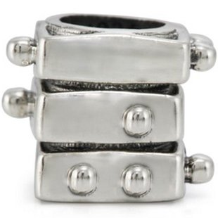 Authentic Ohm Braille Spinner Bead Sterling fits European Charm Bracelet