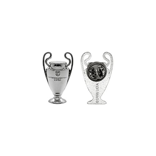 UEFA Champions League 2D Football/Soccer Trophy Pin Badge (One Size) (Silver) (Champions Cup Trophy compare prices)