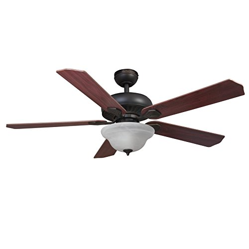 Harbor Breeze 52-in Oil-Rubbed Bronze Downrod or Flush Mount Indoor Ceiling Fan with Light Kit and Remote (Harbor Breeze 52 compare prices)
