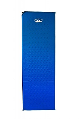 Estera Outdoors lightweight self inflating foam mat, camping sleeping pad, Blue, regular