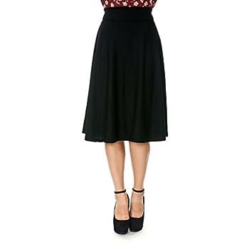 Dani's Choice Stretch High Waist A-line Flared Long Skirt