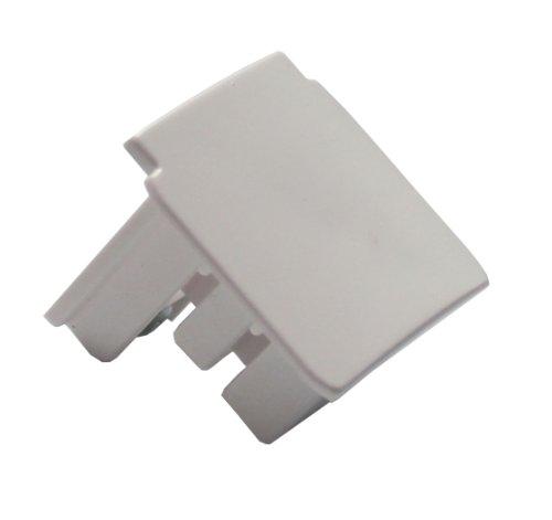 glob-altrac-3-phase-power-rail-end-cap-white