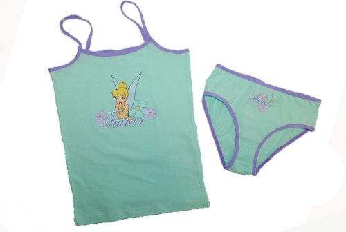 """2 tlg. Unterwäsche Hemd und Slip """" Disney Fairies – Tinkerbell Fairy """" Größe 122 128 134 140 lila jetzt kaufen"""