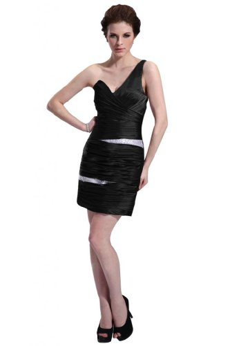 31RM9U7Te1L Special Offers: Emma Y Lady Womens One Shoulder Sheath Short Dress