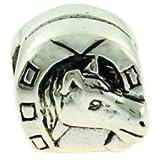 Biagi Horse Head in Horseshoe Sterling Silver Bead, Pandora Compatible