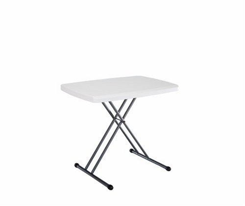 Lifetime Personal Table with 30-by-20-Inch Molded Top WhiteB0006DN7AG : image