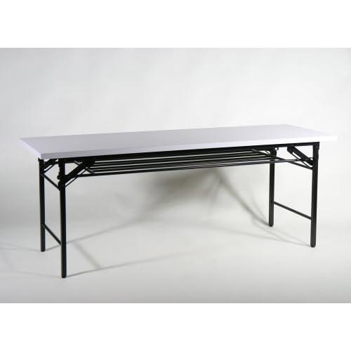 ■折畳み 会議テーブル 会議用テーブル 高脚 ミーティングテーブル■180x60x70 cm■7651B-WH