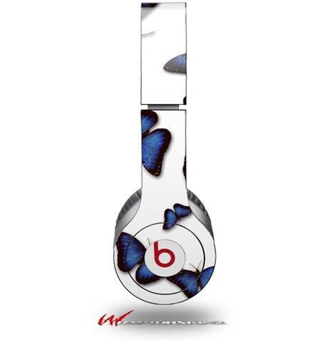 Butterflies Blue Decal Style Skin (Fits Genuine Beats Solo Hd Headphones - Headphones Not Included)