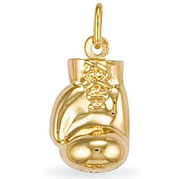 Jewelco London 9ct Yellow gold Boxing Glove Charm