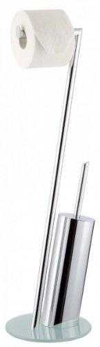Sanwood Kombi-Bürstengarnitur Texas chrom/weiß, Bodenplatte Sicherheitsglas weiß