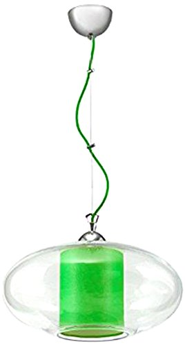 Lampex 339/1 zie Hängeleuchte Ufo, grün