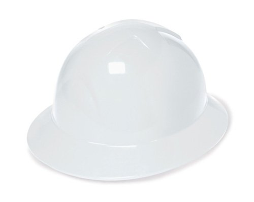 Liberty DuraShell HDPE Full Brim Hard Hat with 6 Point Pinlock Suspension, White (Pack of 6) camp safety safety liberty