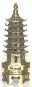 Pagoda Statue- 6 Inches Tall