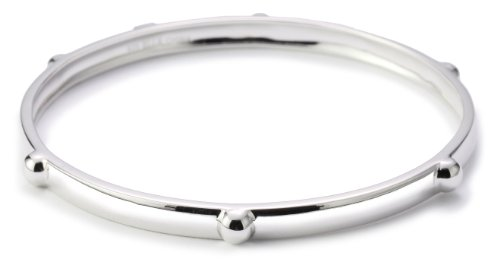 ELLE Jewelry Industrial Glam Skinny Sterling Silver Bangle