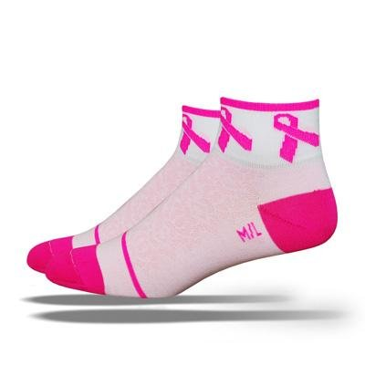 Buy Low Price DeFeet Women's AirEator Pink Ribbon 2 Cycling/Running Socks (B005CWKW18)