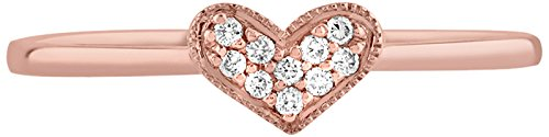 Tous mes bijoux Women 9 k (375) Rose Gold Diamond Rings