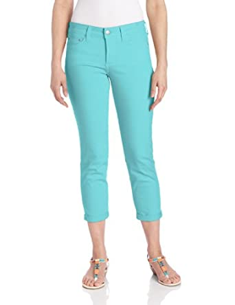 NYDJ Women's Kendall Mini Roll Cuff Jean, Chevy Blue, 0