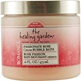 The Healing Garden Cream Bubble Bath Passionate Rose: 16 Oz