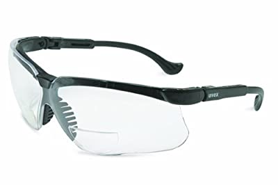 Uvex Genesis Reading Magnifiers Safety Eyewear, Clear Ultra-Dura Hardcoat Lens