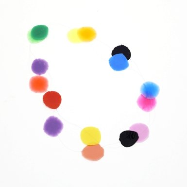Polkadot Multi-Coloured Necklace by Mecky Van den Brink (50cm)||RF10F