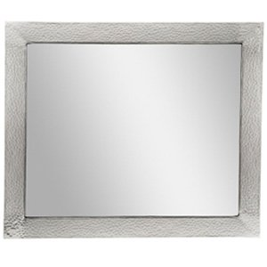 The Copper Factory CF138 Solid Hammered Framed Rectangular Bathroom Mirror