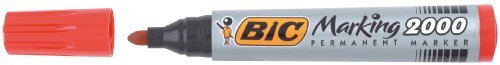 BIC Marqueur Permanent MARKING 2000 Pte Ogive Large Rouge