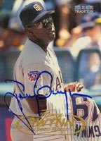 Tony Gwynn San Diego Padres 1998 Fleer Tradition Autographed Hand Signed Trading... by Hall+of+Fame+Memorabilia