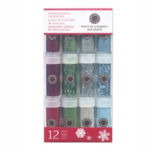 Gingerbread Christmas Glitter Multimedia 12 pk Set Martha Stewart Holidays