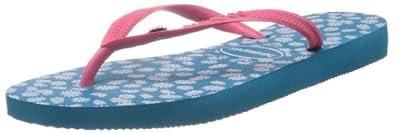 Havaianas Womens' Slim Sunny Flip Flops Capri Blue 6/7 UK (EU 41/42)