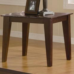 Cheap Irving Contemporary End Table with Faux Crocodile Trim by Coaster (B0051PDXJE)