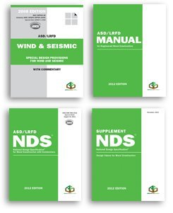 2012 Wood Design Package - including the National Design Specification® for Wood Construction (NDS®) & NDS Supplement: Design Values for Wood Construction (4 volumes set)