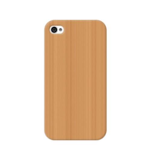 au/SoftBank iPhone4S(4)用 ケース/カバー/ジャケット クール【ウッド (ライトブラウン)】UA01F0011