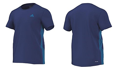 Hot Adidas Essentials 3S Mid Tee / T-Shirt, royal blau - L