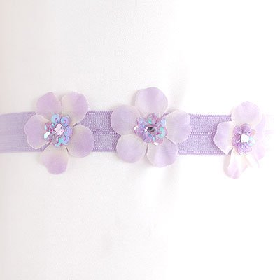 Reflectionz Baby Girl Hair Accessory Bow Lavender Flower Headband
