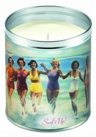 Aunt Sadie's Beach in a Can Vintage Surf's Up Candle (Suntan Lotion Scent)