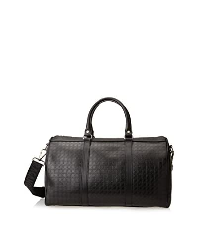 Ferragamo Men's Leather Duffle, Black