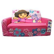 Dora Flip-open Sofa With Slumber - Pink With Flowers from Nick Jr