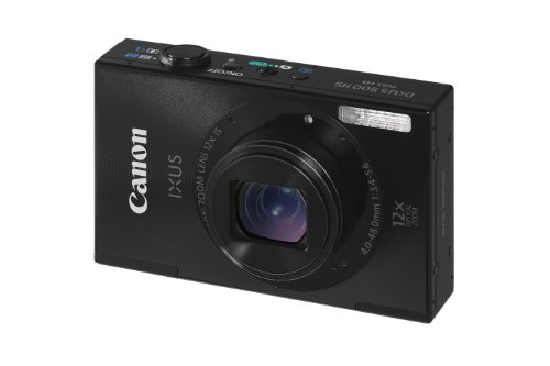 Canon IXUS 500 HS Digital Camera - Black (10.1MP, 12x Optical Zoom) 3.0 inch LCD
