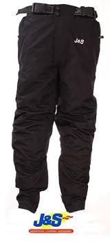 J & S Challenger Textile Pantalon imperméable moto Moto Scooter Pantalon Homme Noir J & S