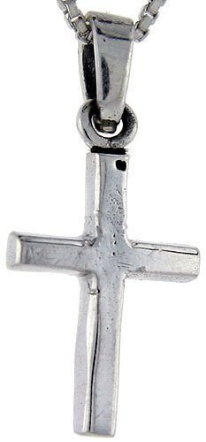Sterling Silver Cross Pendant, 1 inch tall