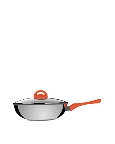 Mepra 11.25 Eco-Ceramic Wok with Lid, Carrot