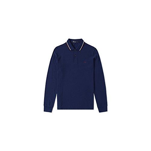 Fred Perry Manica lunga con doppia punta Polo Shirt Carbonio Blu L