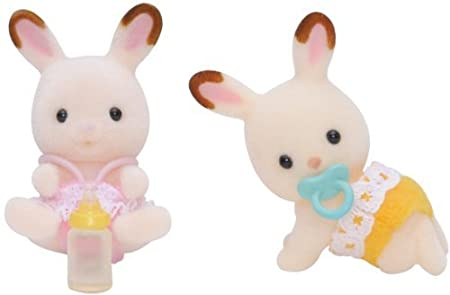Sylvanian Families Chocolate Rabbit Twins by ToyMarket