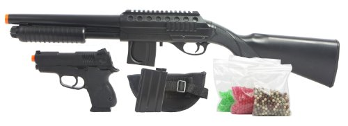 Mossberg Tactical Long Shotgun Kit with 2500 BB's (Airsoft Starter Kit compare prices)