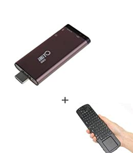 Mini Tv Box iMito MX1 Android 4.1 Jenny Bean Google TV Box HD IPTV Player PC Rockchip RK3066 1G DDR3 1.6Ghz Cortex A9 Bluetooth(Brown)+2.4G Measy RC12 Air Fly Mouse