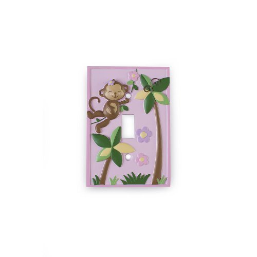 Babies R Us By Design Girl Monkey Switch Plate Cover